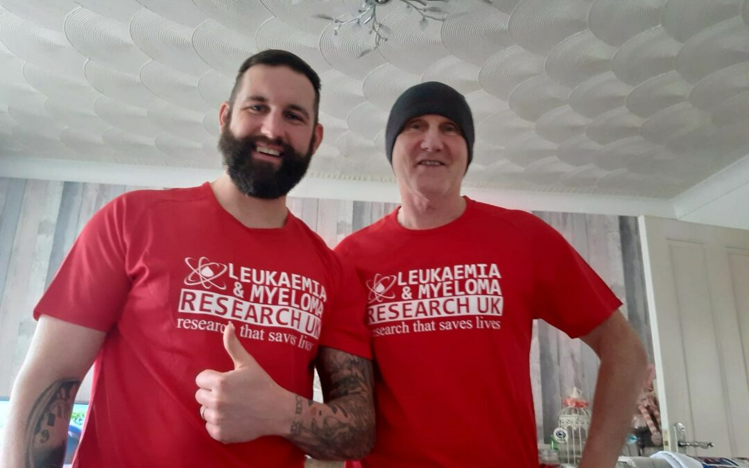 Father and son duo run over 300km to raise money to fight blood cancer